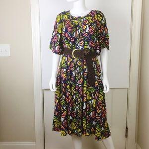 Butterfly Print Mumu Lounge Dress with Pockets